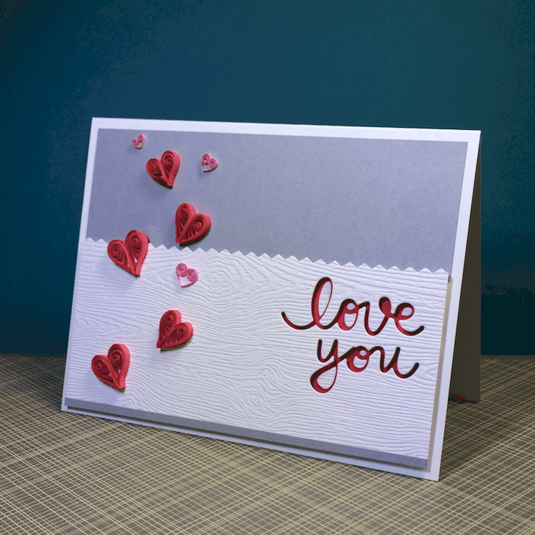 A Simple Quilled Hearts Card for Valentine's Day