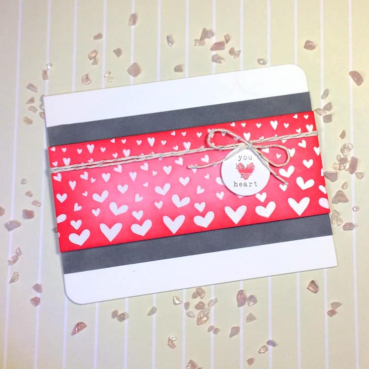 emboss resist card for Valentine's Day
