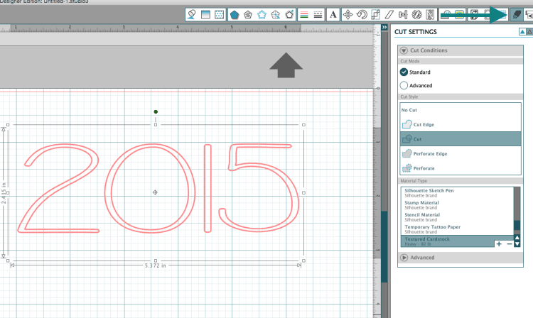 Cutting fonts with the CAMEO to create custom lettering on a card. You can use almost any font on your computer!