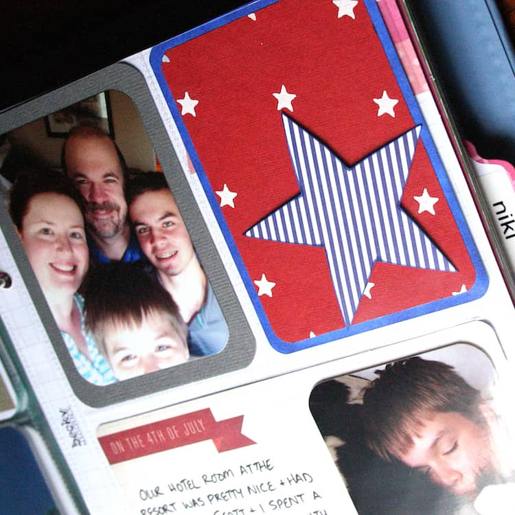 Inspiration: Fourth of July Mini Project Life Layout