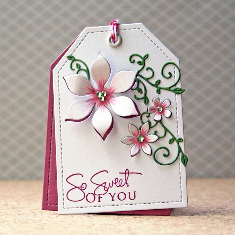 Floral Tag - So Sweet of You! Beautiful for a thank you gift :)