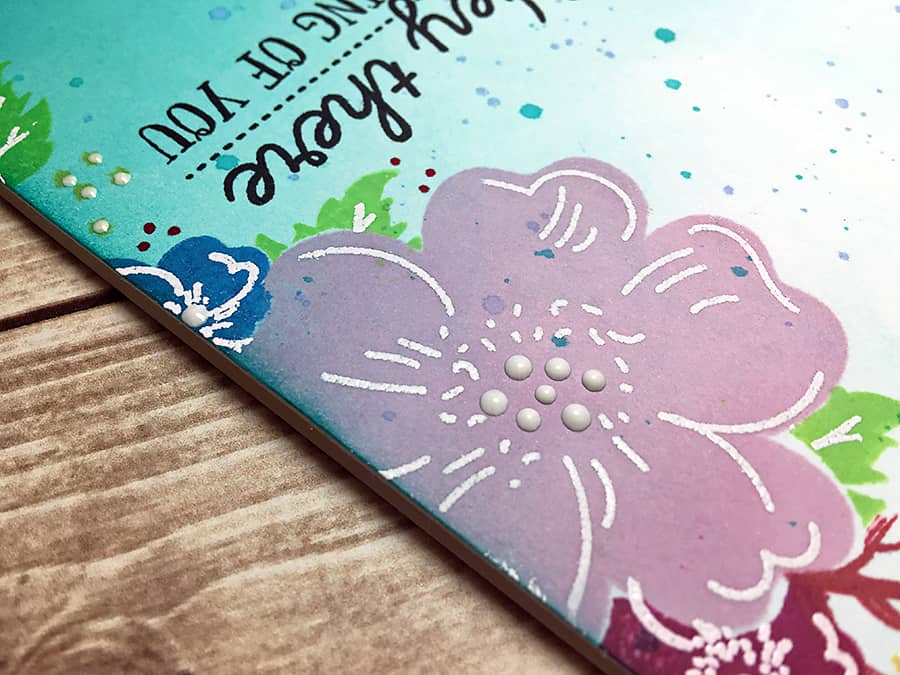 PTI June Blog Hop Challenge: Hey There Floral Card