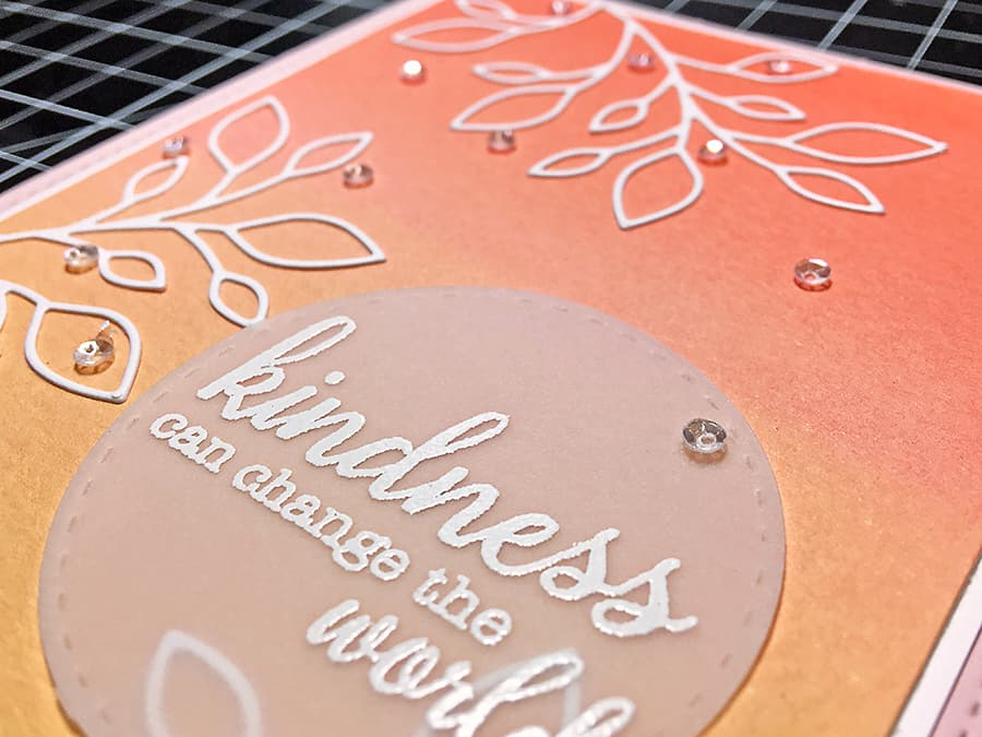 White Die Cuts on a Color Background