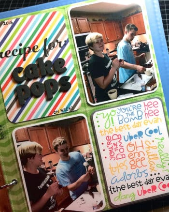 6 X 8″ Project Life Layout: Cake Pops (SPARKS)