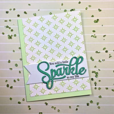 Technique: Embossing Paste and Glitter