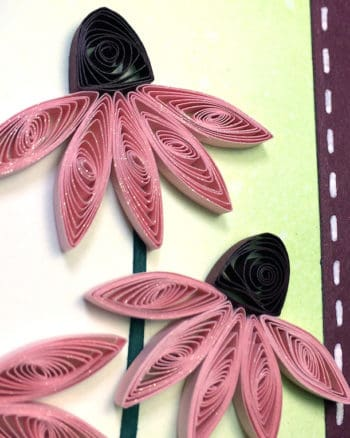 Quilled Coneflowers Card with Distress Ink