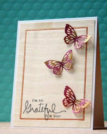 Inspiration: Beautiful Butterflies on Wood