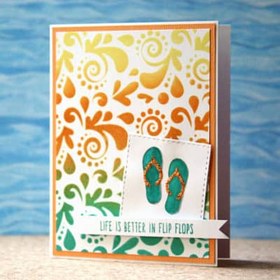 Using Distress Inks with Stencils