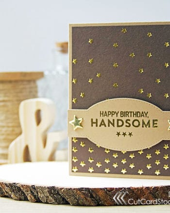 A Masculine Birthday Card for Your Favorite Man