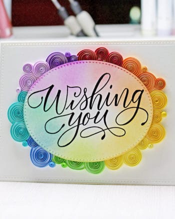 Rainbow Quilling Card