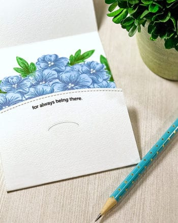 CutCardstock: Folded Floral Thank You Card