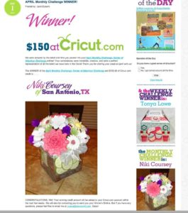 Winner: Cricut Circle Monthly Challenge