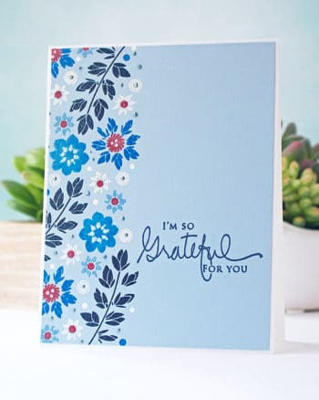 Heat Embossing on Colored Cardstock