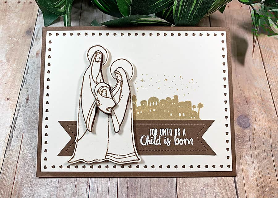 Glory to God from Whimsy Stamps + Paper Piecing