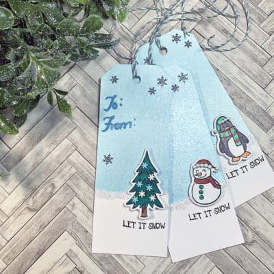 Paper Door: Tall Holiday Gift Tags + Colored Pencils