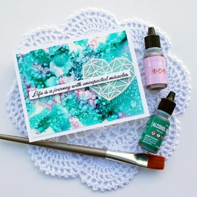 Working with Alcohol Ink to Create a Background